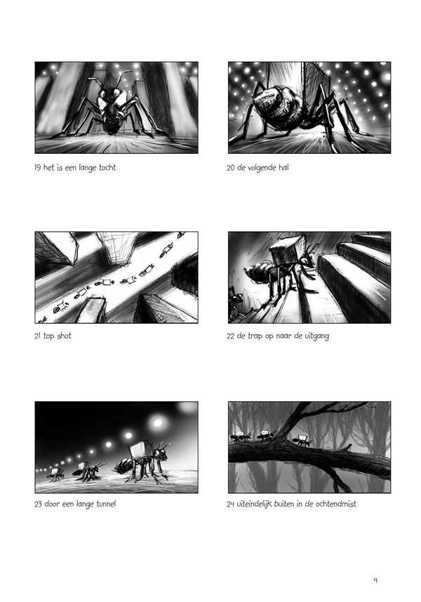 A page of the storyboard
